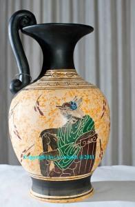Riproduzione di vaso greco