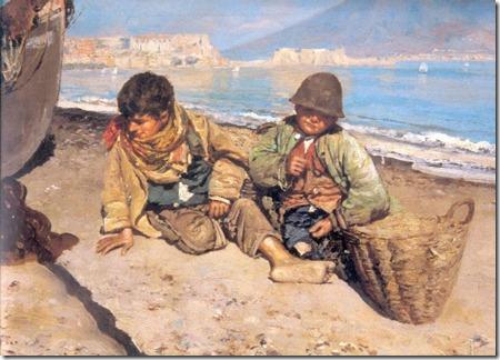 Scugnizzi in riva al mare
