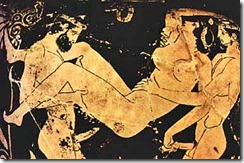 Greek vase with threesome act