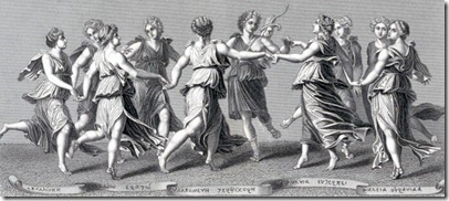 The Nine Muses of greek mythology