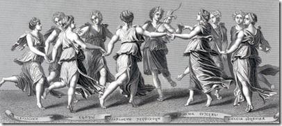 The Nine Muses of greek mythology