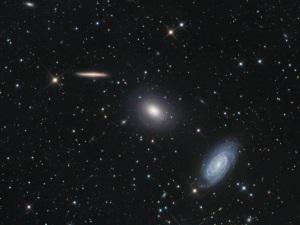tre galassie nella costellzione del Dragone