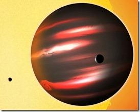Foto del pianeta TrES-2b rilasciata dal Center for Astrophysics