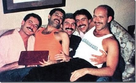 Freddie Mercury together some New York friends
